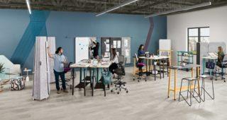 Осигурајте ја приватноста или делете ги идеите со колегите со помош на Steelcase Flex колекцијата